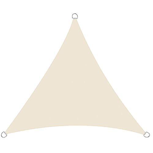 ZHML Toldo Vela de Sombra Triangular,Toldos Impermeables Exterior, Protección UV, para Patio Exteriores Jardín, con Accesorios de Hardware de Montaje