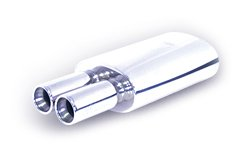 "3A Racing 63-0630 Muffler Universal Twin Round 3"" Tips"