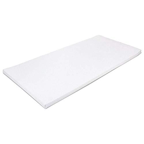 MSS 100300-200.90.7 Viscoelastische Matratzenauflage, RG50, mit Bezug (50% Baumwolle, 50% Polyester), Gr. 90 x 200 x 7 cm