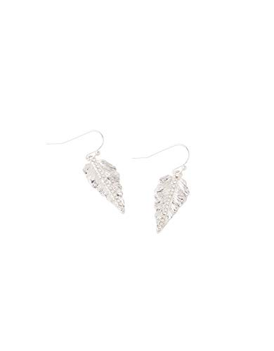 Accessorize Pave Leaf Short Drop Earrings