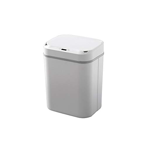 XVXFZEG Trash Can, Intelligent Kunststoff bruchsicheren Sorting Abfalleimer Mülleimer, Covered for Badezimmer, Küchen, Home Offices, Dorms, Kinder Zimmer mit Abdeckung Altpapier Trash Can 12L