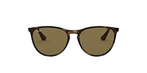 Ray-Ban Junior Kids' RJ9060S Erika Round Sunglasses, Rubber Havana/Dark Brown, 50 mm