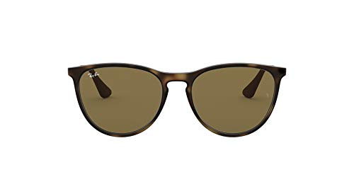 Ray-Ban Junior Kid's RJ9060S Erika Kids Round Sunglasses, Rubber Havana/Dark Brown, 50 mm