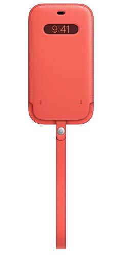 Apple Funda Integral de Piel conMagSafe (para el iPhone 12 Pro MAX) - Pomelo Rosa