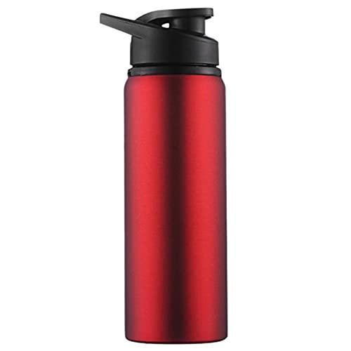 Botella de agua deportiva de acero inoxidable, portátil a prueba de caídas y a prueba de fugas, botella de agua de gran capacidad, botella de agua fría de viaje