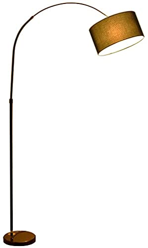 NYCUABT Justerbar golvlampa Smidesjärn Fiske Lampa Arc LED Tyg Living Room Bedside Lampa Marmor Studie Rum Kreativ lampa (Färg: 185 * 90cm)