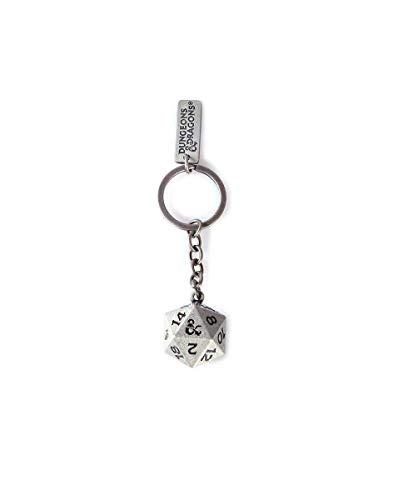 Difuzed Dungeons & Dragons Metal Keychain Dice 3D Keyrings