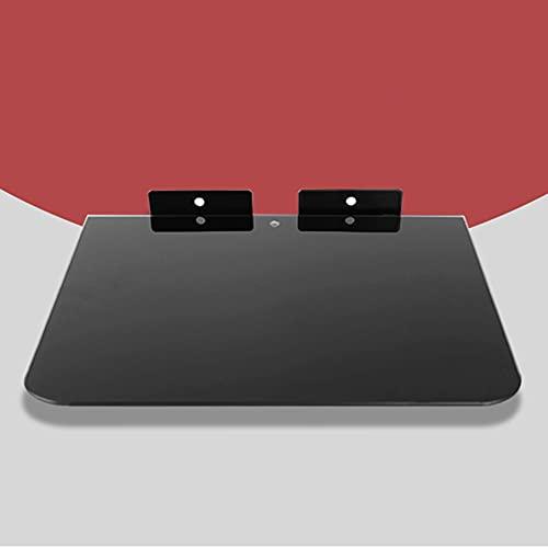 Étagère flottante Étagère murale pour meuble TV Console TV Etagère pour routeur Boîtier décodeur DVD Support de rangement pour téléphone/A / 35×25 cm
