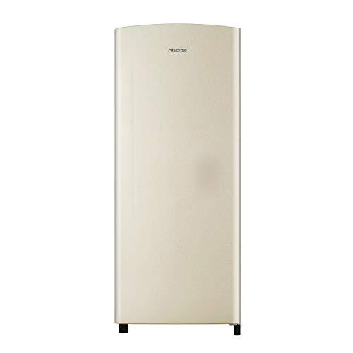 Hisense RR220D4AY2 Frigorifero Monoporta, Colore Sabbia, con Comparto Congelatore 4****,Capacità Netta Totale 164, altezza 128 cm, Crema