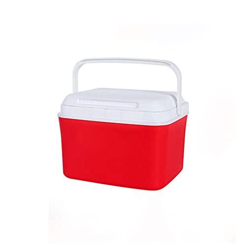 Tingting1992 Cubo de Hielo al Aire Libre Refrigerador Helado Comercial Capacidad de Gran Capacidad Cubo de Hielo Refrigerado Coche al Aire Libre Hogar 5L para Bebidas y Fiestas (Color : Red)