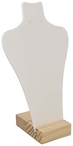 Dielay Expositor para joyas de madera y plástico, 28 x 17 x 8 cm