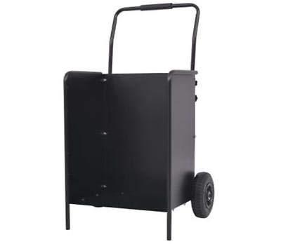 Generic * irewood Neumáticos Capacidad Carro de madera W Con Neumático Negro Leña Negro Carro de Leña Carro de Arte Con P Log Carro de tronco Carro de acero Slim lim Log Trolley
