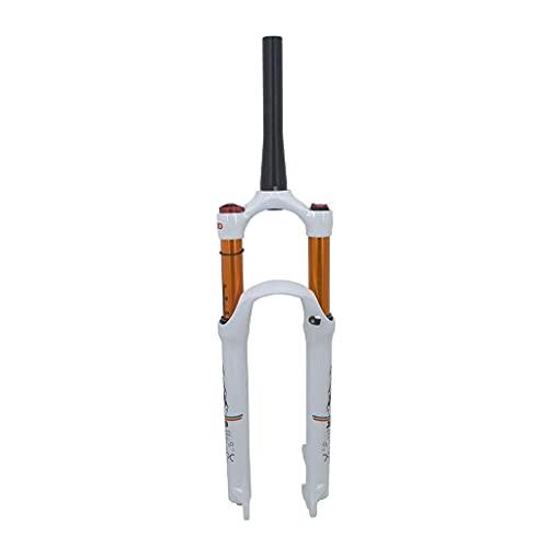 TYXTYX Horquilla Delantera MTB 26'27,5 Pulgadas 29er Horquilla de suspensión de Tubo cónico, Sistema de Aire, Impacto Efectivo de 120 mm - Blanco