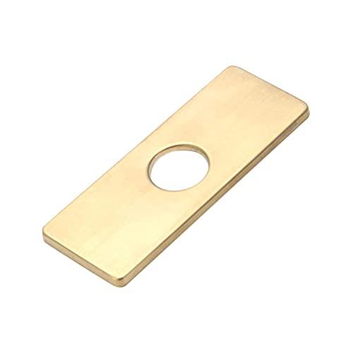 Placa de cubierta de agujero de 6 pulgadas para lavabo de baño, placa de cocina de grifo de baño 3 a 1, cubierta de orificio de fregadero, apto para fregadero de 4 pulgadas //29 (color oro)