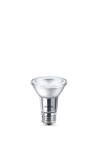 Philips LED 471144 50 Watt Equivalent Classic Glass PAR20 Dimmable LED Flood Light Bulb (6 Pack), 6-Pack, Bright White, 6 Piece