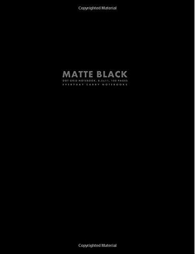 Matte Black Dot Grid Notebook, 8.5x11, 100 Pages