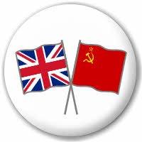 MadAboutFlags Anstecknadel mit Flagge Großbritanniens und der UdSSR, Freundschaftsflagge, 25 mm