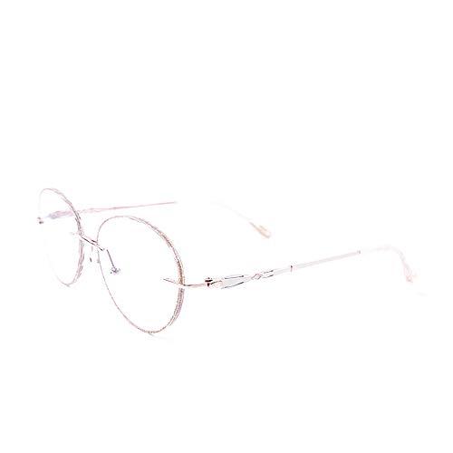 CAOXN Gafas De Lectura Anti-Luz Azul, Lentes Progresivas Multifocales HD Y Óptica De Gafas De Presbicia De Titanio Puro Ultraligero,Oro,+3.00