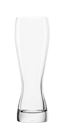 STÖLZLE LAUSITZ Weizenbierglas 0,3 L I Biertulpe 300 ml I Weißbiergläser 6er Set I formschöne Biergläser I spülmaschinenfest I bleifreies Kristallglas I bruchresistent I hochwertige Qualität