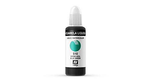 Vallejo - Acuarela líquida 32ml, color verde azul