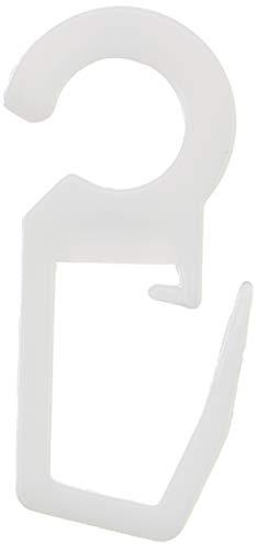 Gardinia Faltenlegehaken POM-Qualität roh-weiß, 10er Pack, für Vitragestangen/Spannstangen, 28 mm, 10