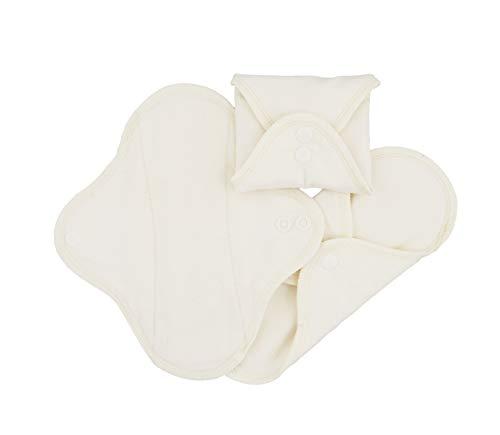 Serviettes hygièniques lavables en coton bio, flux normal