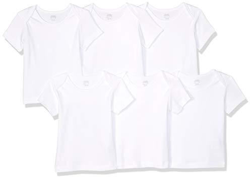 Amazon Essentials - Pack de 6 camisetas con escote americano para niño,...