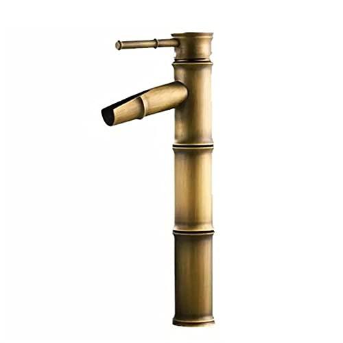 JIASHIQI Grifo de Mezclador de Lavabo de baño, Grifo de Lavabo de baño de un Solo Mango, Mezclador de Lavabo frío, frío, Lavabo, Fregadero, Agua, baño, baño, baño, baño (Color : Bronze, Size : 30cm)