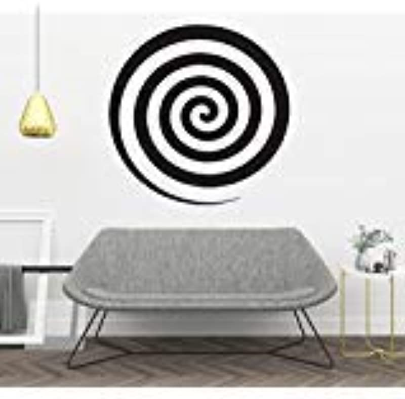 Hypnotic Wheel Wall Decal Hypnosis Scripts Vinyl Sticker Spinning Hypnotic Wheel Bedroom Living Any Room Home Decoration CG433 22 Width X 22 Height