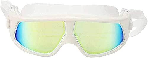AWJ Buceo Máscaras de Buceo Máscara de Snorkel Natación Antivaho Gafas de natación Impermeable Silicona Deportes acuáticos Gafas para Adultos (Color: Plata)