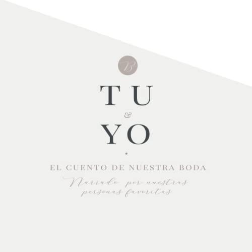Libro de firmas boda originales: Libro de invitados personalizado y elegante. Idea de regalo o detalle de boda original para la pareja. En Español: ... y mensajes a los novios. Encuesta divertida.