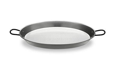 Unbekannt Paella Pfanne aus poliertem Stahl 50cm für ca. 14 Portionen