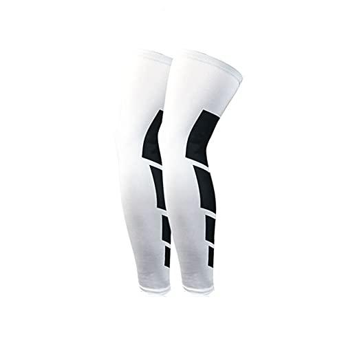 TOPHUHAI Moda Simple Aptitud Tobillo Calcetines de compresión Rodilla Alto Soporte Medias piernas Muslo Conjunto Deportes Calcetines al Aire Libre Hombres Mujeres (Color : White, Tamaño : L)