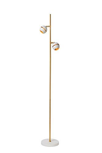 Lucide BINARI - Lampadaire - Ø 20 cm - LED - 2x5W 2700K - Blanc