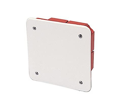 Poly Pool PP0585 - Caja de derivación empotrable con tapa, 92 x 92 x 45 mm