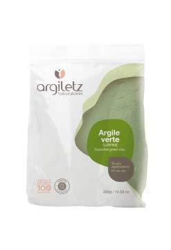 ARGILETZ Lot de 2 sachets de 300 g d'argile verte surfine distribué par ARCILIA
