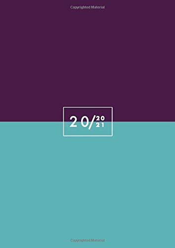 Agenda 2020 2021 A4: Agenda giornaliera 2020 2021 italiano, luglio 2020 - giugno 2021, Un giorno per pagina, Agenda 2020/2021 grande, viola, turchese