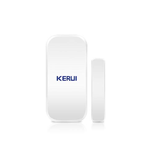 KKmoon 433MHz Sensores de Puertas y Ventanas Inalámbrica, Detector de Alarma de Sensor Magnético para el Sistema de Alarma de Seguridad Antirrobo para el Hogar