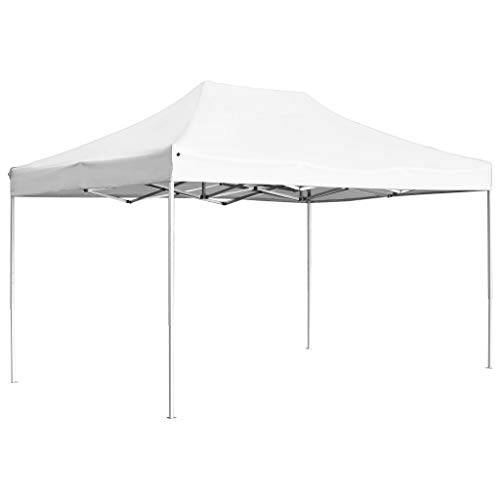 Lechnical Professional Party Tent Foldable Aluminium Garden Gazebo Tent Water Resistant Garden Gazebo Garden Tent UV Protection Marquee 4.5 x 3 m Cream
