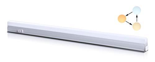 Led Unterbauleuchte Küchenlampe Unterbau Lichtleiste Farbwechsel Schrankbeleuchtung Superhell mit Ein/Ausschalter Schraube Verbindungskabel Warmweiß Neutralweiß Kaltweiß 800 Lumen 500 mm
