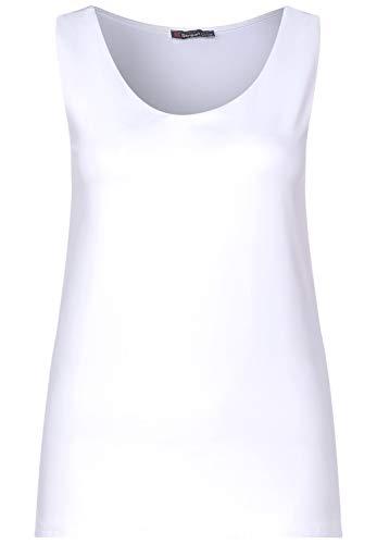 Street One 314800 T-Shirt, Bianco, 40 Donna