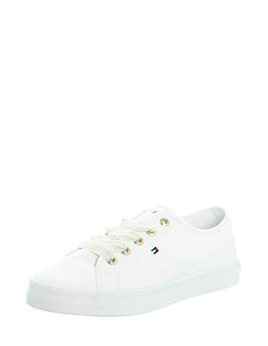 Tommy Hilfiger Damen Essential Nautical Sneaker, Weiß (White Ybs), 39