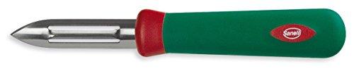 Sanelli Premana Professional Pelapatate, Acciaio Inossidabile, Verde/Rosso, 17.5x1.5x2.5 cm