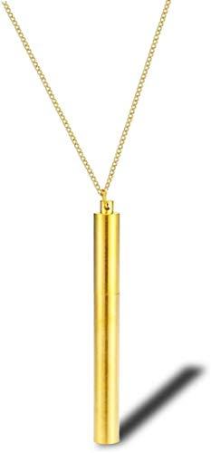 Halskette Street Hip-Hop Schornstein Halskette Zubehör Europäische und amerikanische Männer und Frauen Pullover Kette Schmuck Persönlichkeit Wild Pendant-Gold_ (chain_length_70 _ + _ 5cm) für Frauen