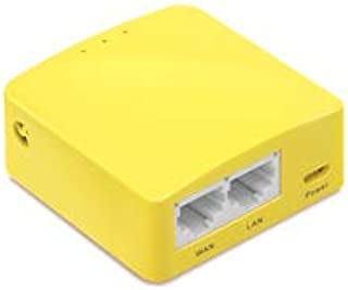 GL.iNet GL-MT300N-V2 Mini Travel Router, Repeater Bridge, 300Mbps High Performance, 128MB RAM, OpenVPN/Wireguard Client/Server