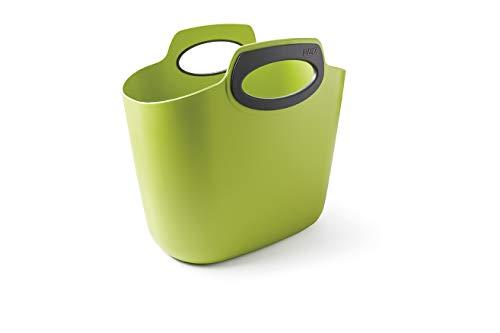 GF Garden, FOR 2 Everyday, Einkaufstasche, Kunststoff, Mehrzweckbehälter mit Henkeln, Farbe Limettengrün