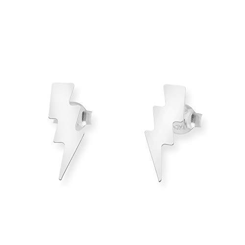 Silver & Steel - Pendientes plata Relámpago, pendientes rayo en plata de ley 925 milesimas - 4098/9