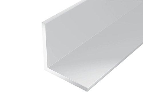 GAH-Alberts 479206 Winkelprofil-Kunststoff, weiß, 1000 x 10 x 10 mm