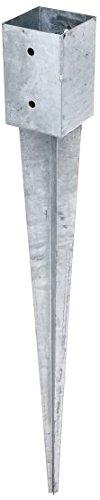 GAH-Alberts 211301 Einschlag-Bodenhülse für Vierkantholzpfosten - feuerverzinkt, 91 x 91 mm / 900 mm