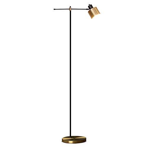 Home Equipment Lámpara de pie vintage en oro negro Lámpara de pie moderna de metal con interruptor de pie Oslash Pantalla de 14 cm y máx.Lámpara de 40W 158 cm de altura para sala de estar y dormit